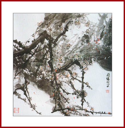 琵琶树枝矢量图