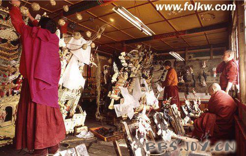 青藏奇葩---塔尔寺的酥油花艺术