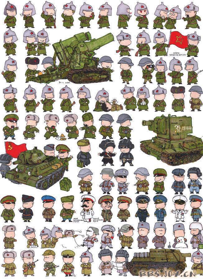 卡通版二战各国制服小士兵(组图)图片