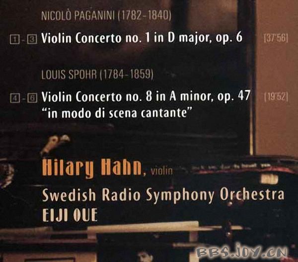 希拉里·哈恩-帕格尼尼,施波尔小提琴协奏曲