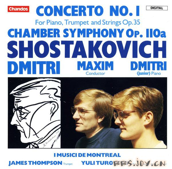 CHANDOS公司30周年纪念套装 CD20 肖斯塔科维奇 第一...