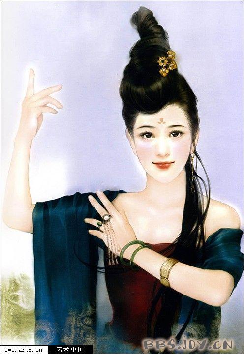 姬德珍手绘古装美女精选